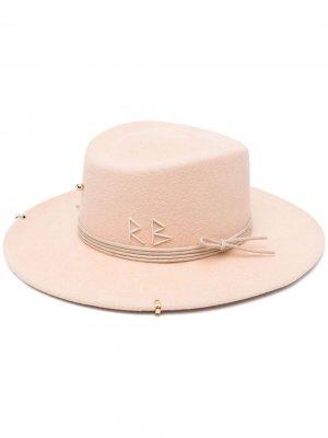Шляпа Gambler широкими полями Ruslan Baginskiy. Цвет: нейтральные цвета