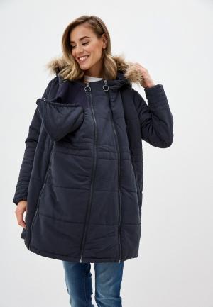 Куртка утепленная Mamalicious. Цвет: серый