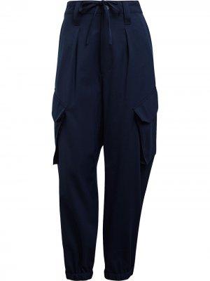 Широкие брюки Y-3. Цвет: синий