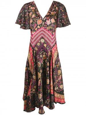 Платье Emma с принтом Liberty London. Цвет: черный