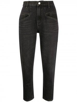 Укороченные джинсы с завышенной талией Current/Elliott. Цвет: черный