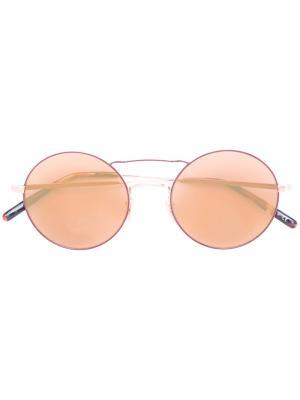 Солнцезащитные очки Nickol Oliver Peoples. Цвет: коричневый
