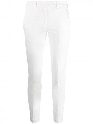 Узкие брюки чинос Perfect с завышенной талией Dondup. Цвет: белый