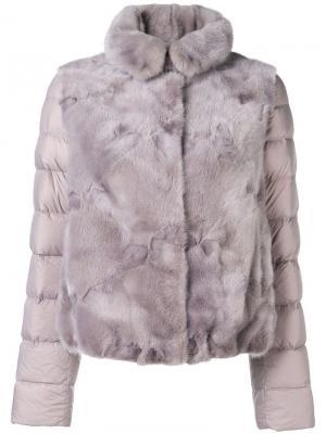 Панельная пуховая куртка Liska. Цвет: фиолетовый