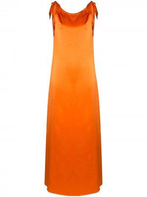 Платье макси с драпировкой Bernadette. Цвет: оранжевый