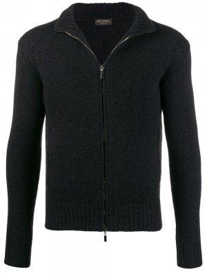 Delloglio свитер на молнии Dell'oglio. Цвет: черный