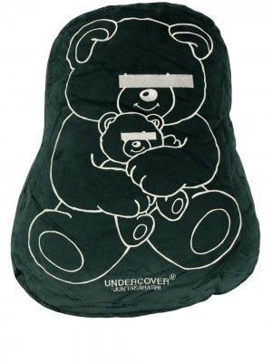 Подушка с принтом Teddy Bear UNDERCOVER. Цвет: зеленый
