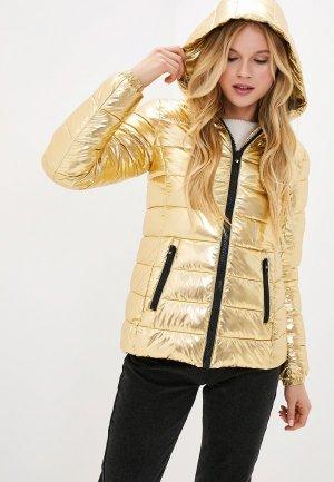 Куртка утепленная Champion. Цвет: золотой