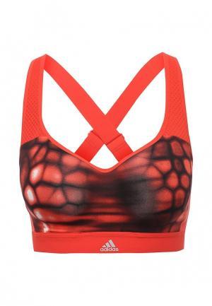 Топ спортивный adidas. Цвет: красный