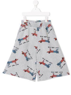 Cat and dog flared trousers Bobo Choses. Цвет: серый