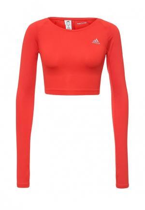 Лонгслив спортивный adidas. Цвет: красный