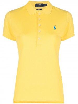 Рубашка поло узкого кроя Polo Ralph Lauren. Цвет: желтый