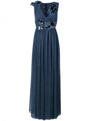 Платье Pomade Talbot Runhof. Цвет: синий