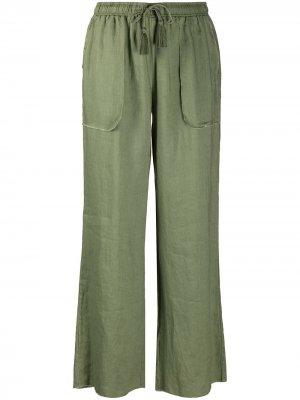 Широкие брюки с кулиской Gold Hawk. Цвет: зеленый