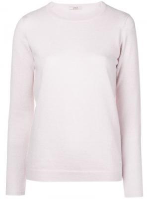 Cashmere crew neck sweater Liska. Цвет: розовый