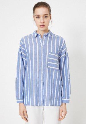 Рубашка Koton. Цвет: голубой