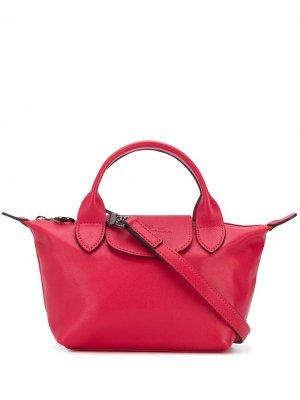 Сумка-тоут Le Pliage Cuir Longchamp. Цвет: красный