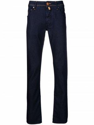 Прямые джинсы средней посадки Jacob Cohen. Цвет: синий