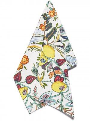Кухонное полотенце с принтом La Doublej. Цвет: белый