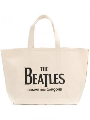 Сумка-тоут Beatles Comme Des Garçons Play. Цвет: телесный