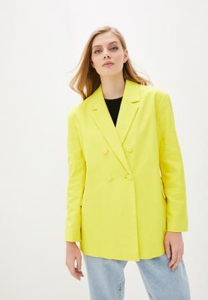 Пиджак Pepe Jeans. Цвет: желтый