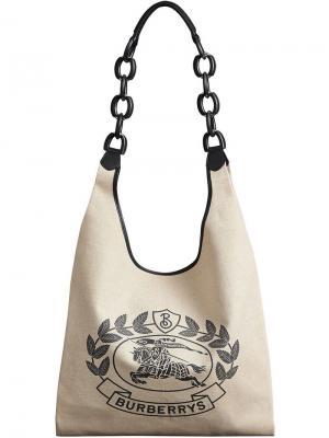 Сумка-шоппер с логотипом Burberry. Цвет: нейтральные цвета