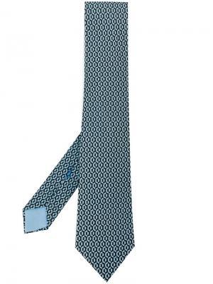 Галстук с узором Hermès Vintage. Цвет: черный