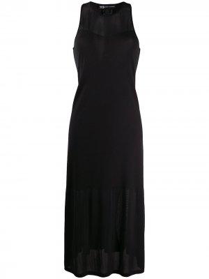 Расклешенное платье Y-3. Цвет: черный