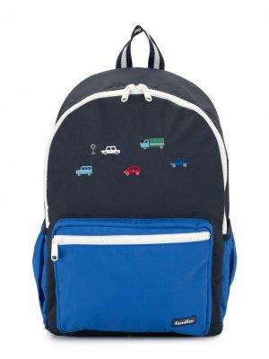 Рюкзак с вышивкой Familiar. Цвет: синий