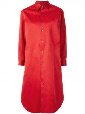 Многослойное платье-рубашка Junya Watanabe. Цвет: красный