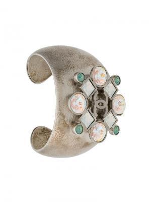 Браслет с камнями Chanel Vintage. Цвет: металлик