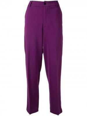Укороченные брюки My Pants Forte. Цвет: фиолетовый