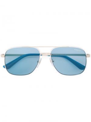 Солнцезащитные очки-авиаторы Vogue Eyewear. Цвет: синий