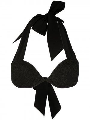 Кружевной лиф бикини с эффектом пуш-ап Carine Gilson. Цвет: черный