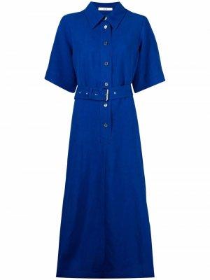 Платье-рубашка с короткими рукавами Co. Цвет: синий