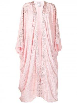 Жакет с кристаллами и драпировкой Camilla. Цвет: розовый