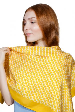 Платок Gherardini. Цвет: желтый