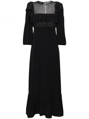 Полупрозрачное платье Rochas. Цвет: черный
