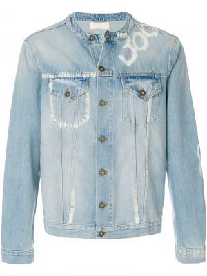 Джинсовая куртка с надписями Ih Nom Uh Nit. Цвет: синий
