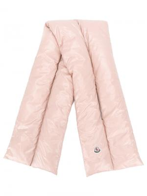 Стеганый шарф Moncler. Цвет: розовый