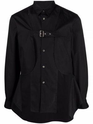 Рубашка с длинными рукавами и пряжкой Comme Des Garçons Homme Plus. Цвет: черный