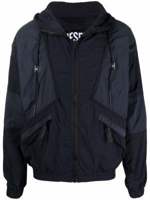 Куртка J-Packar со вставками Diesel. Цвет: черный