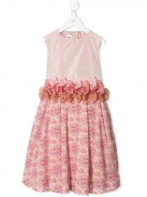 Платье с бантом Familiar. Цвет: розовый