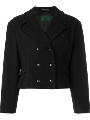 Укороченная двубортная куртка Jean Paul Gaultier Pre-Owned. Цвет: черный