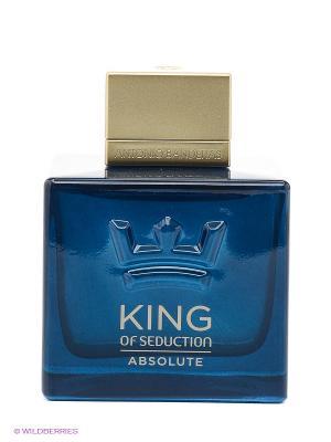 Туалетная вода  antonio banderas king of seduction absolut. Цвет: прозрачный