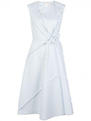 Платье асимметричного кроя в полоску Jason Wu. Цвет: синий