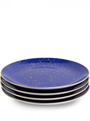 LObjet набор десертных тарелок Lapis L'Objet. Цвет: синий