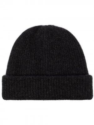 Кашемировая шапка бини в рубчик The Elder Statesman. Цвет: черный