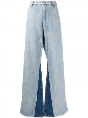 Расклешенные джинсы с завышенной талией Natasha Zinko. Цвет: синий