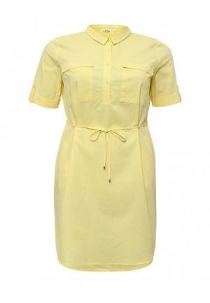 Платье UNQ. Цвет: желтый